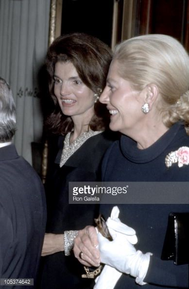 Jackie Onassis and Charles Spalding's wife during Jackie Onassis and Ari Onassis Sighting At Le Cote Basque October 15 1969 at Le Cote Basque in New...