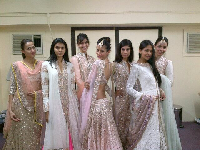 Backstage at http://www.ManishMalhotra.in/ 2014 Summer Indian Wedding Show in Muscat for Omani Charities