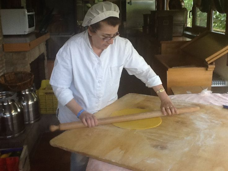 Our chef Luciana (one of the owner) is preparing her famous tagliatelle... this is the first step!