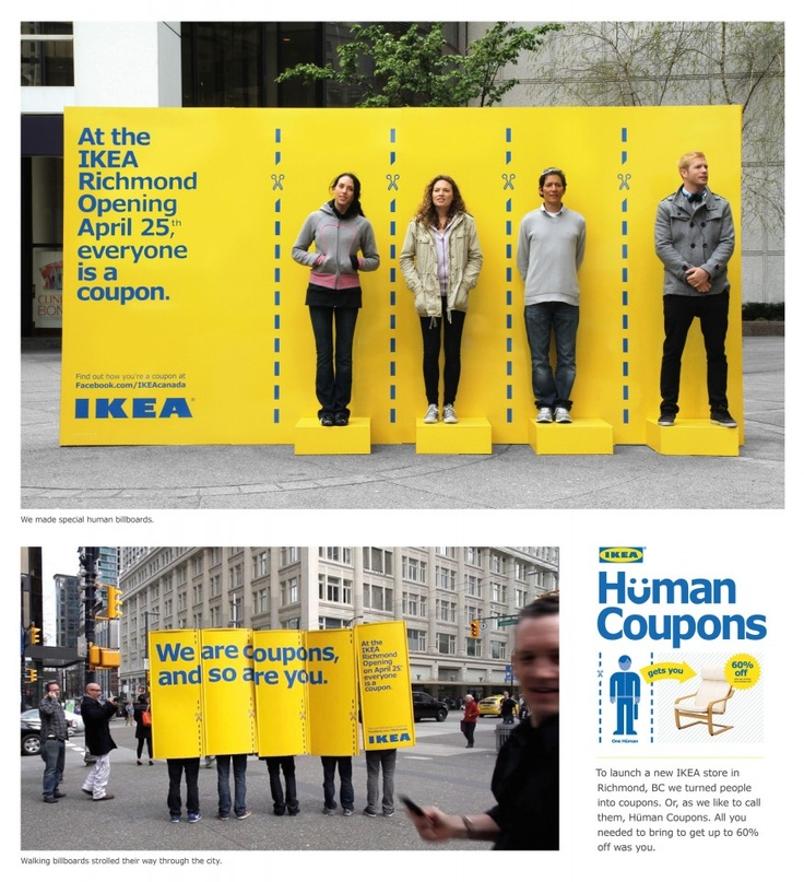 IKEA Human Coupon advertising campaign, very creative indeed