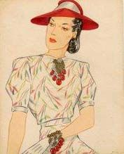 Miriam Haskell - Parure de Bijoux - Aquarelle Larry Austin