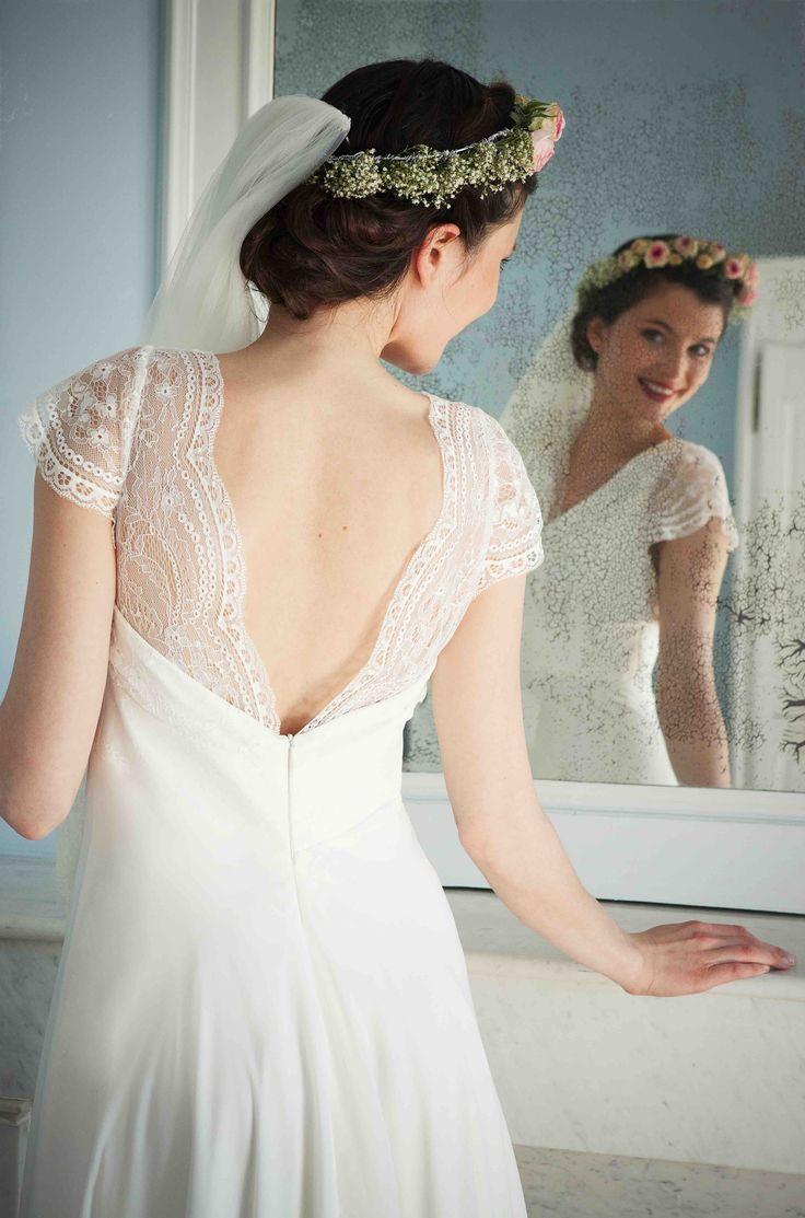 Robe de Mariée Elsa Gary, modèle Valentina, disponible en boutique #robedemariée #wedding #bridal