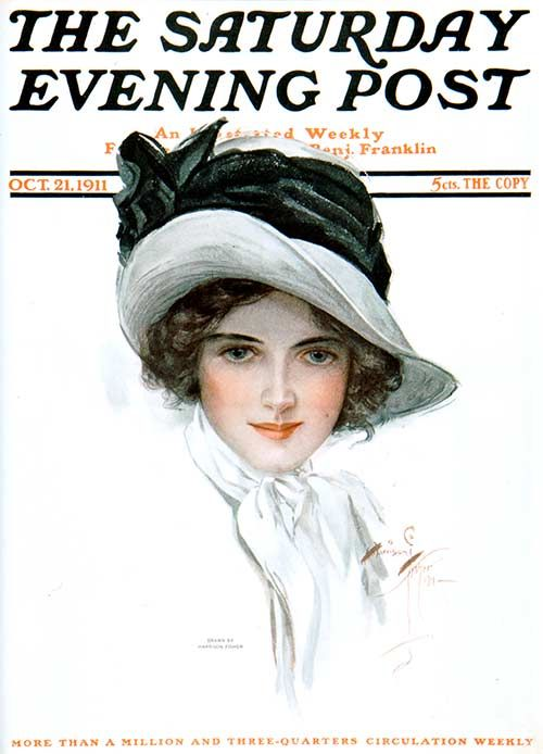 """Harrison Fisher (1877-1934), """"The Saturday Evening Post, October 1911"""""""