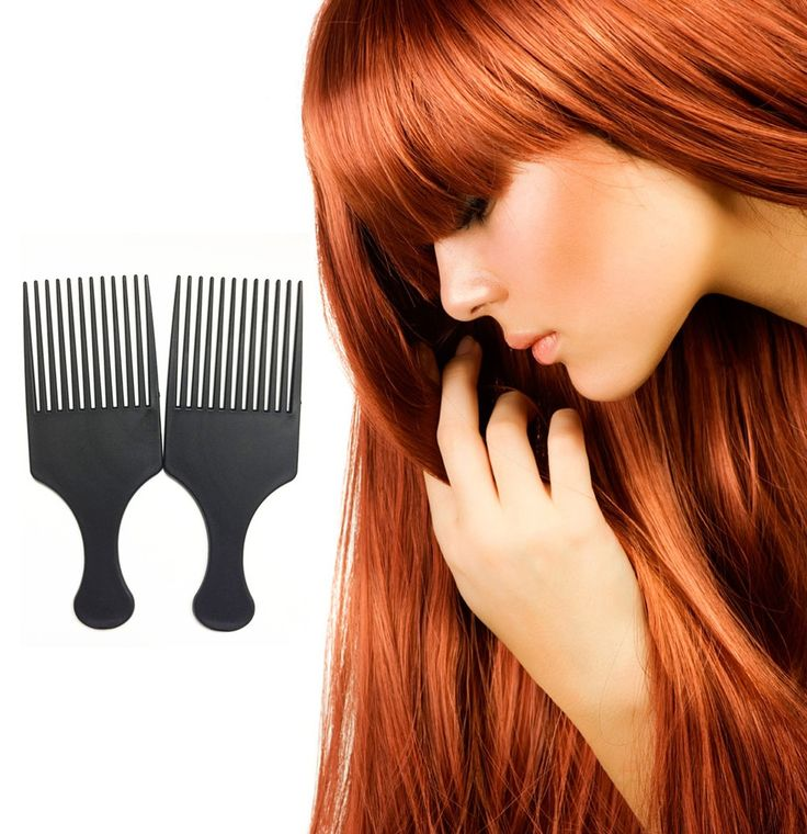 Afro Comb Curly Hair Brush Salon Hairdressing Styling Long Tooth Styling Pick
