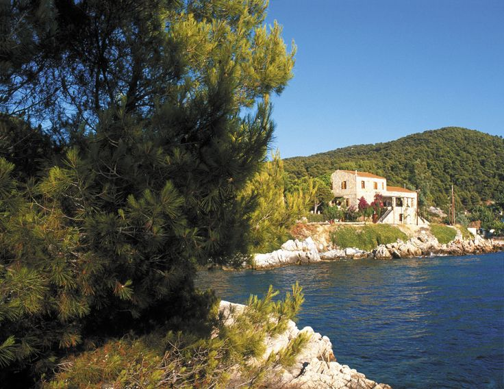 Our gorgeous, traditionally Greek house with rooms on a twin share basis. Stone built, it naturally keeps itself cool and if that's not enough, it is right on the water's edge so you can call yourself off in the calm blue sea.
