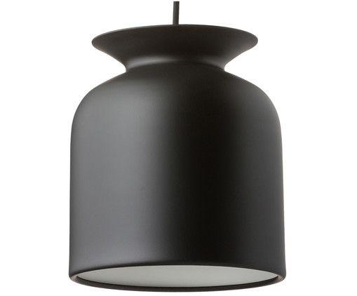 Erhellen Sie Ihr Zuhause mit der glockenförmigen Pendelleuchte RONDE. Der kohlschwarze Lampenschirm lässt RONDE wie eine Amphore oder Vase erscheinen. Schmücken Sie Ihr Zuhause mit dem hochwertigen Design von Gubi.