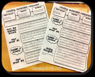 What I've been doing with my kids all year in a much easier format. Great for FCAT written response practice.