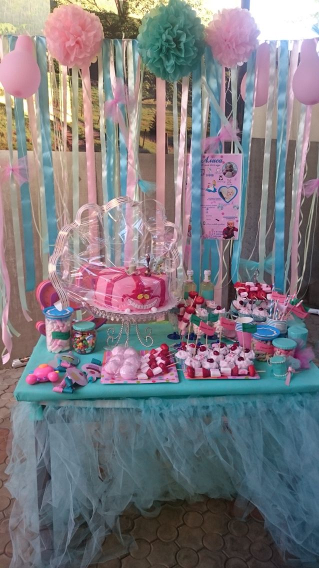 Наш сладкий стол / our candy bar for celebrating Alice's first bday