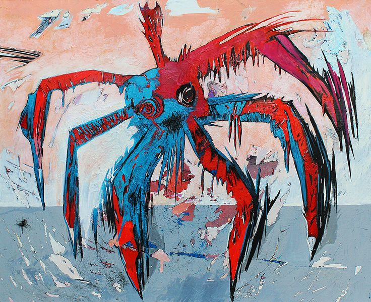 Spider-woman  120x100 cm oil on canvas