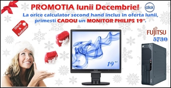Promotia lunii Decembrie Calculator + Monitor Philips GRATUIT #oferte #reduceri www.laptop-ieftin.ro