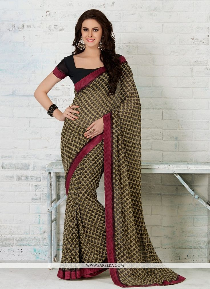 Its a master piece in its class glorifying your timeless beauty. Get the simplicity and grace with this mystic multi colour georgette casual saree. The brilliant attire creates a dramatic canvas with ...