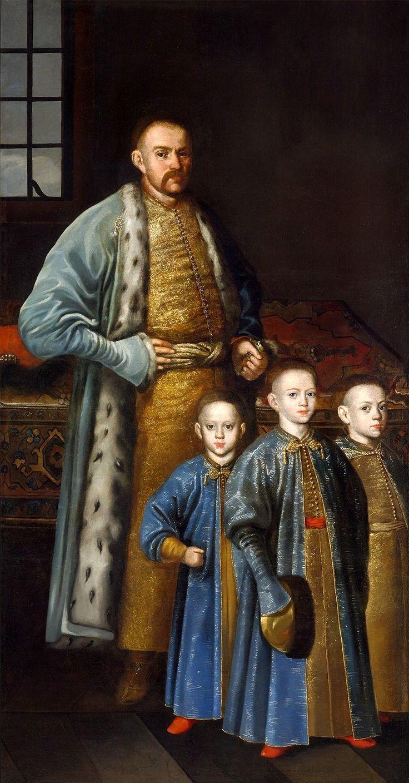 Portrait of Maksymilian Franciszek Ossoliński and his sons by Anonymous Painter from Masovia, 1670s (PD-art/old), Zamek Królewski w Warszawie (ZKW)