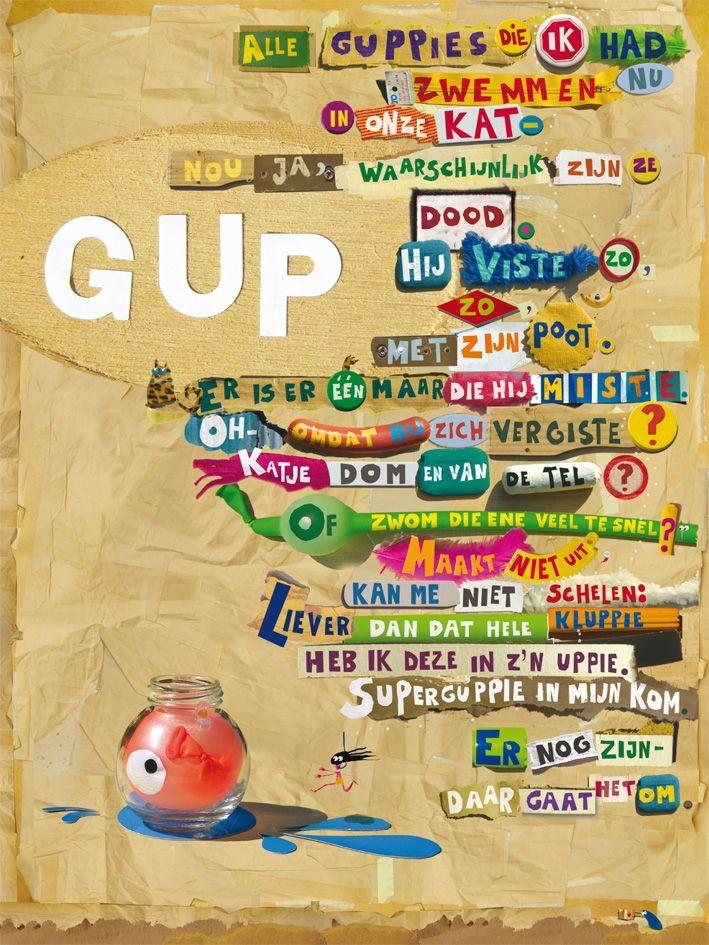 Aan de muur - Poëzieposters - poëzieposter met gedicht GUP van Edward van de Vendel - Plint