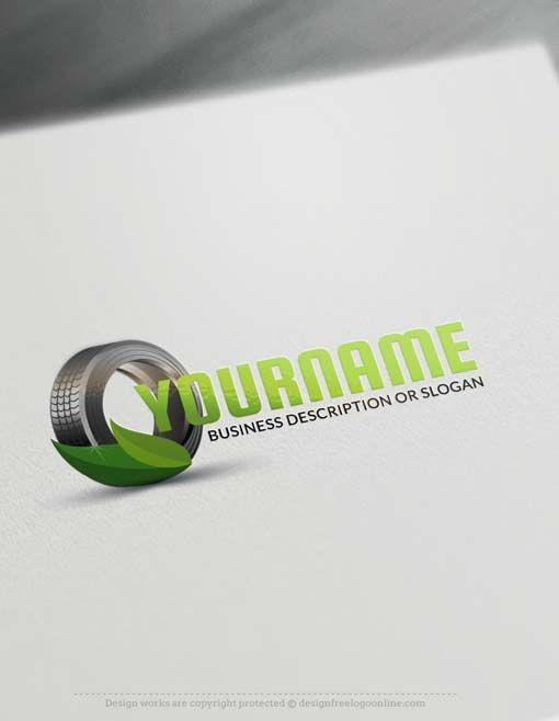 Online Eco Car Tire Logo Design - Makea Logo with our Free Logo…