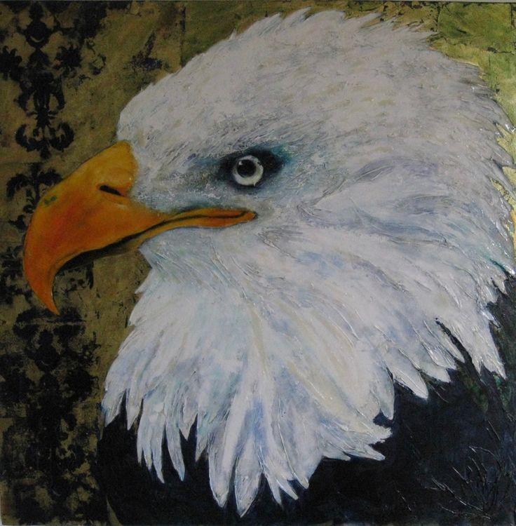 Demi McLeod 'PERCEPTION' mixed media on canvas 100 x 100 cm