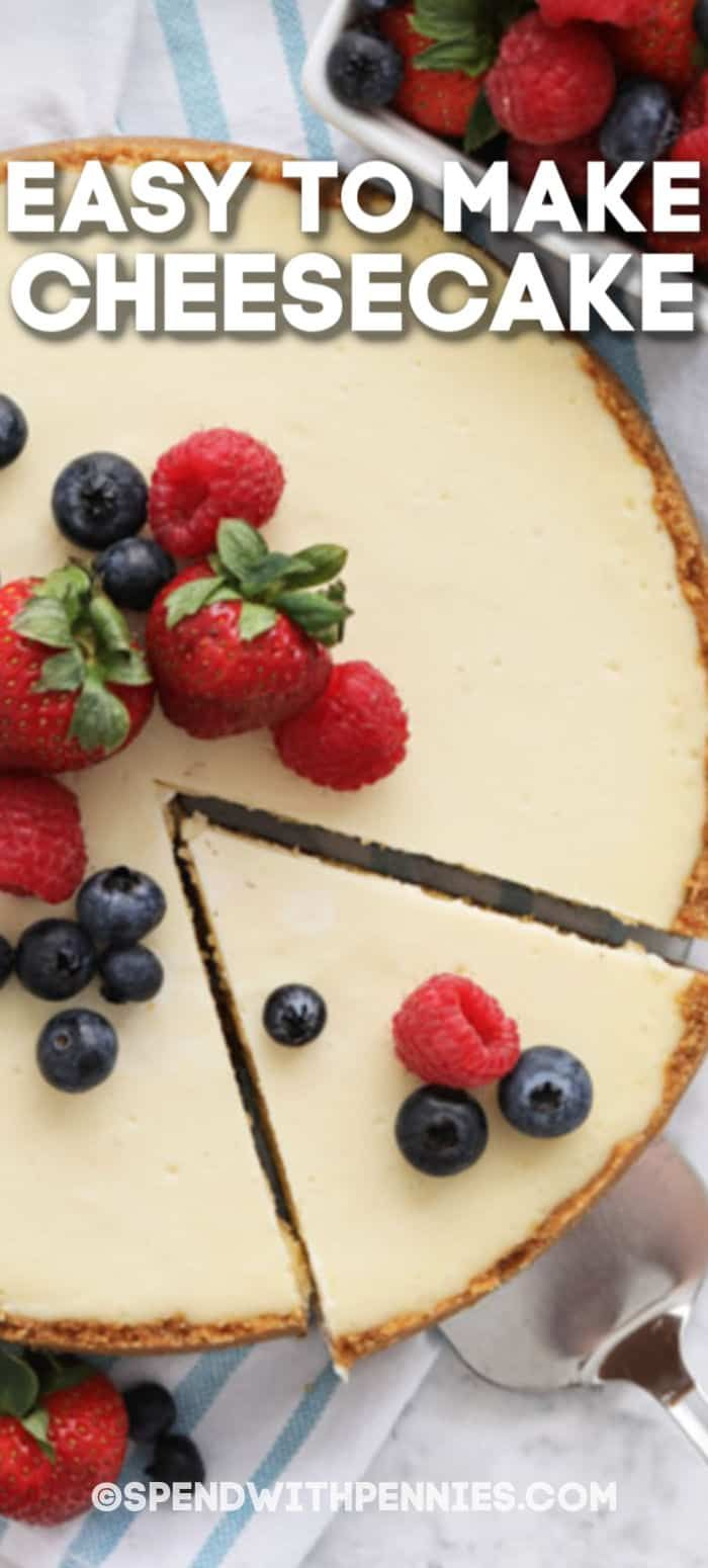 This Cheesecake Recipe Is Made Without Sour Cream But Still Has That Rich Flavor Rich Cheesecake Fi In 2020 Easy Cheesecake Recipes Cheesecake Recipes Easy Cheesecake