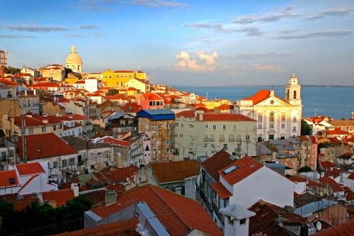 Late afternoon light falling on a Lisbon, Portugal, skyline. Photo by Skip Hunt/Frommers.com Community.