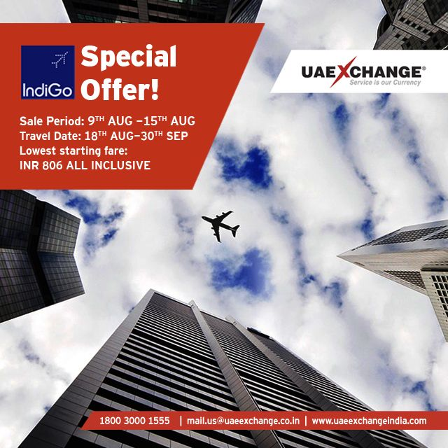 Great news!! Our best offers ever ... with IndiGo Airlines Get it before August…