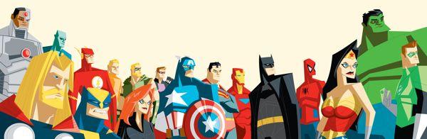 The Avengers League of Justice...Assemble by Adam Thompson, via Behance
