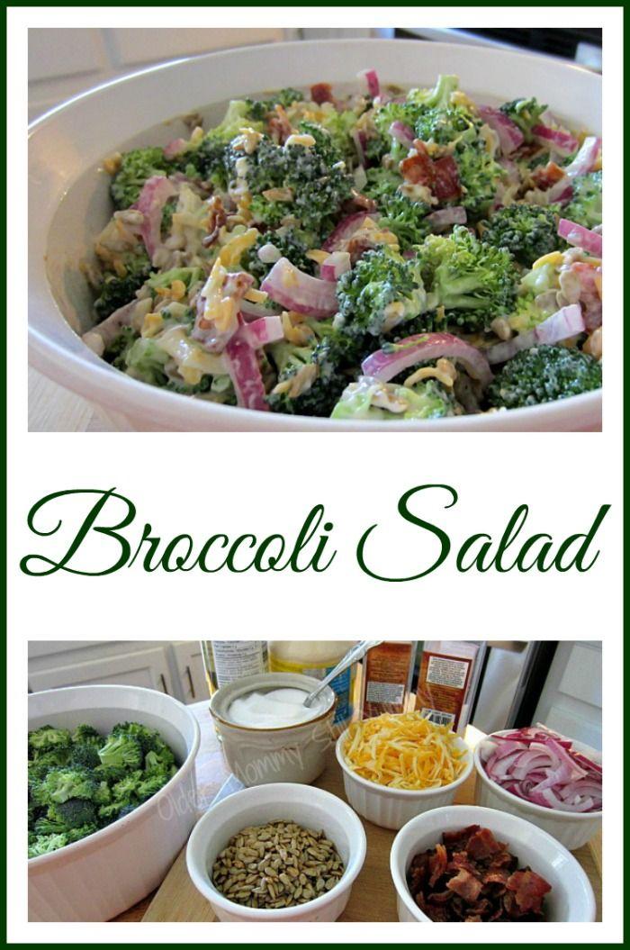 Broccoli Salad - The PERFECT sidedish, always a huge hit! #Thanksgiving salad , #Christmas salad #BarbecueFavourite