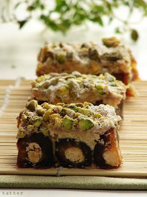 Ranginak ( Iranian Dessert ) Dates, nuts, cinnamon.---I've seen this at my favorite Iranian market too, must try for dessert next time I go!!:)