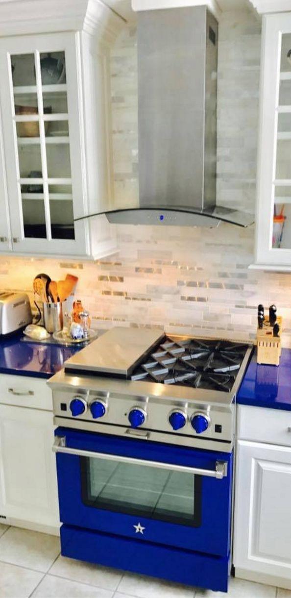 this customer designed her entire kitchen around her bluestar platinum series range