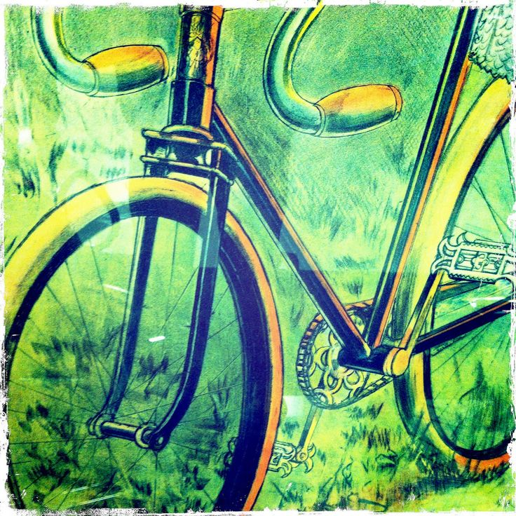 97 best bike art images on pinterest bicycle art bike for Bicycle painting near me