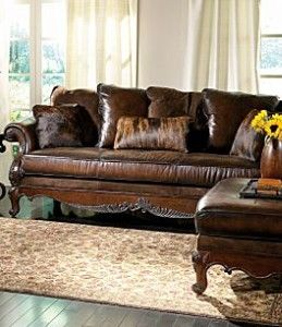 Bernhardt Cheyenne Wood Frame Leather Sofa For The Home Pinterest And Living Room