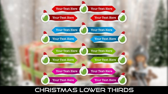 Christmas Lower Thirds 12 Lower Thirds | Full HD 1920×1080 | Quicktime PNG alpha codec | Each 10 seconds.  #videohive #motiongraphic #aftereffects #christmas #holiday #jinglebells #joy #lowerthird #newyear #party #red #santa #santaclaus #seasonal #snow #snowflake #winter #xmas