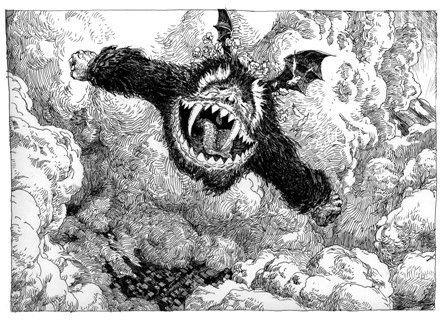 "Laurent Gapaillard illustration for ""Le Yark""."