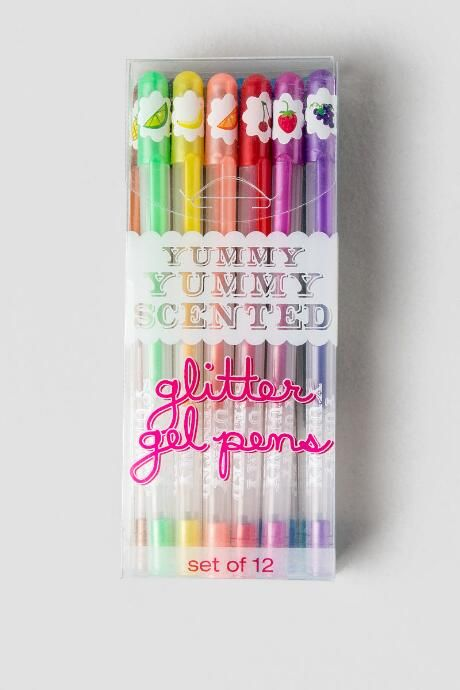 Yummy Yummy Scented Glitter Gel Pens $10.00