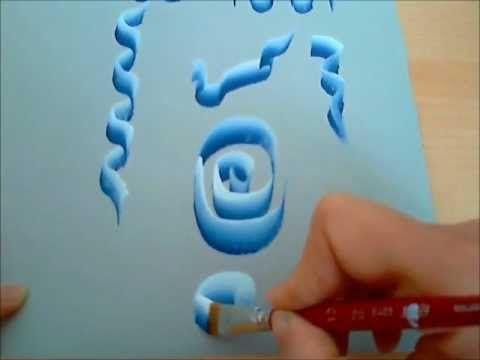 Come dipingere nastro. one stroke. Pittura decorativa. Corso di pittura per bambini. - YouTube