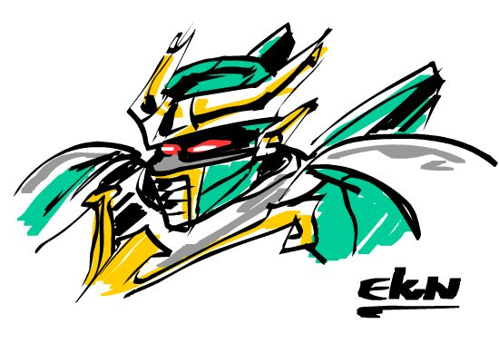 OMEGAS DEL INFIERNO Dibujo de Mercurio (Diseño del Robot - Mecha) por EKN   EKN: Mis Dibujos de Anime Manga