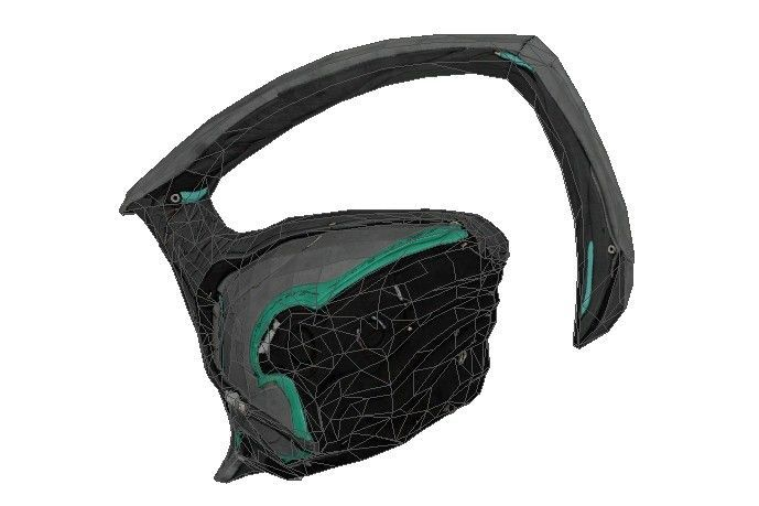 Warframe - Life Size Nyx Helmet Papercraft for Cosplay Free Template Download - http://www.papercraftsquare.com/warframe-life-size-nyx-helmet-papercraft-for-cosplay-free-template-download.html#Cosplay, #Helmet, #LifeSize, #Nyx, #Warframe
