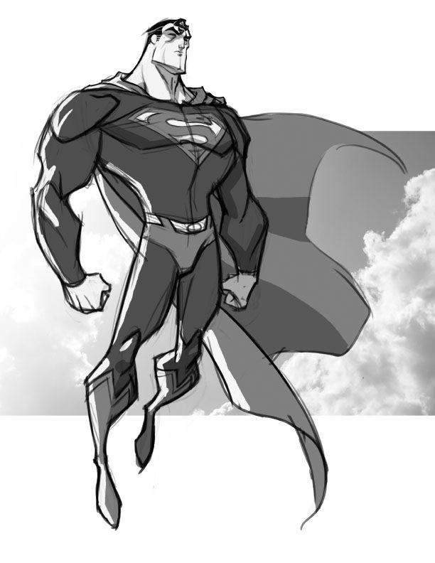 Sketch::Superman by KharyRandolph.deviantart.com