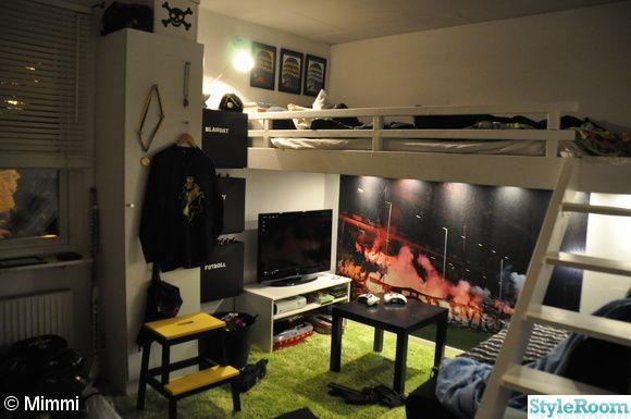 Pojk rum i Fotbollstema..(AIK) - Ett inredningsalbum på StyleRoom