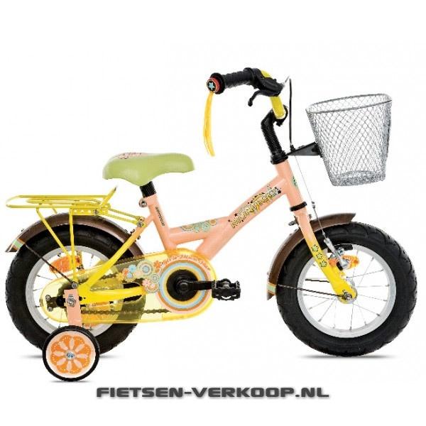 Meisjesfiets Montego Rainbow Orange 12 Inch   bestel gemakkelijk online op Fietsen-verkoop.nl