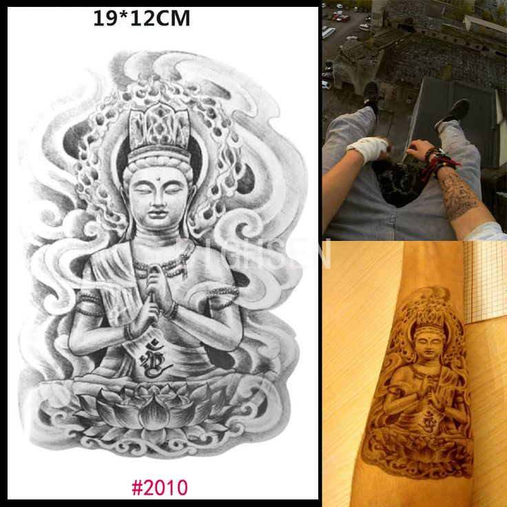 Classic Buddha Figure Temporary Tattoos Arm Stickers Tattoos Chest Women Men Tattoo Design Fake Statue Tattoo Sticker BCH2010