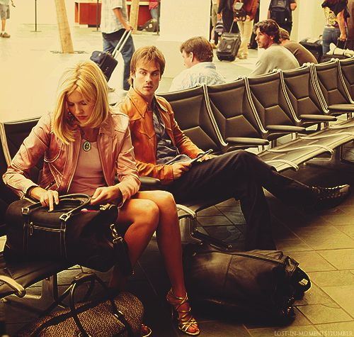Boone & Shannon in the airport