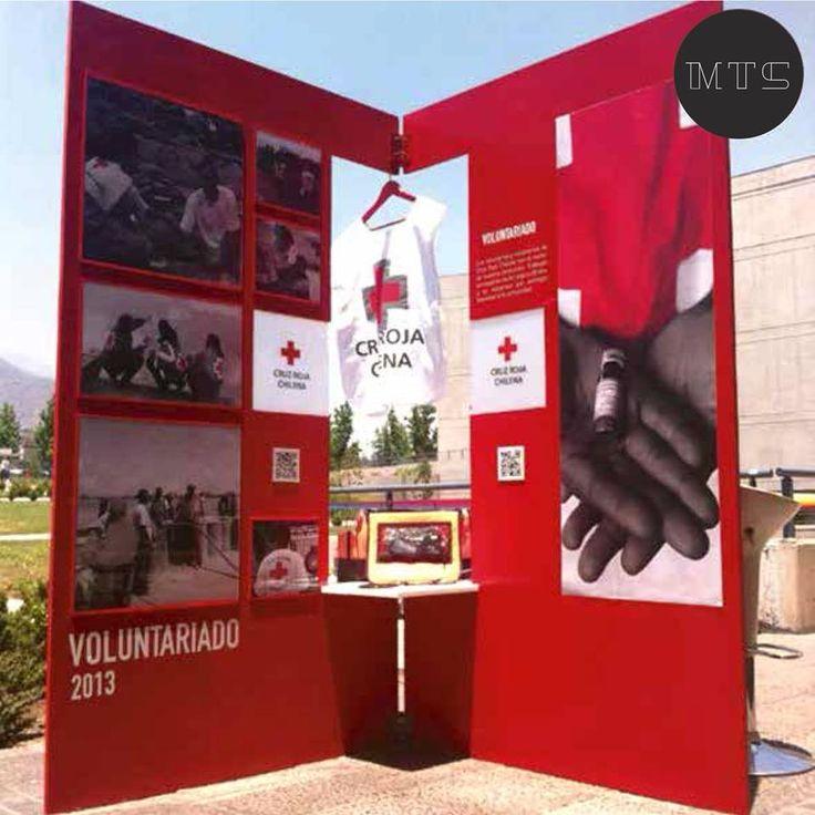 Diseño Stand / Cruz Roja www.mariateresasoffia.cl