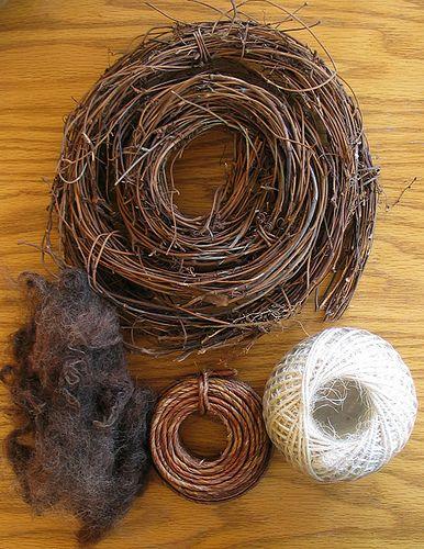 Great Bird Nest Tutorial . . . Bird Nest Minimal Materials by perpetualplum, via Flickr