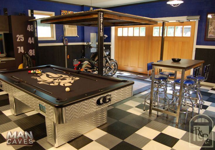 Detached Garage Man Cave Ideas Entertainment Room