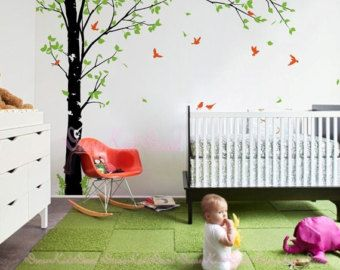 Confetti Tree Vinyl Wall Decal-Nature Wall by WallumsWallDecals