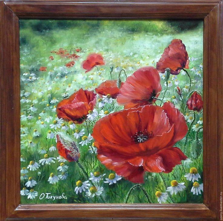 """Купить Картина маслом""""Вдохновение"""" - картина с цветами, картина маслом, картина на холсте, картина в подарок"""