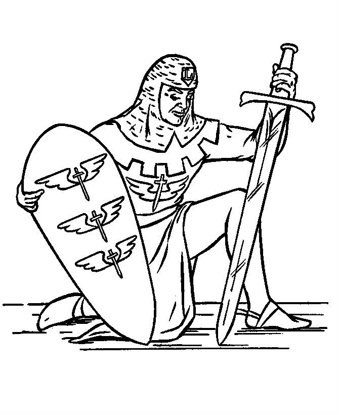 Knights Bowed Tired Coloring Pages For Kids Printable Castles And
