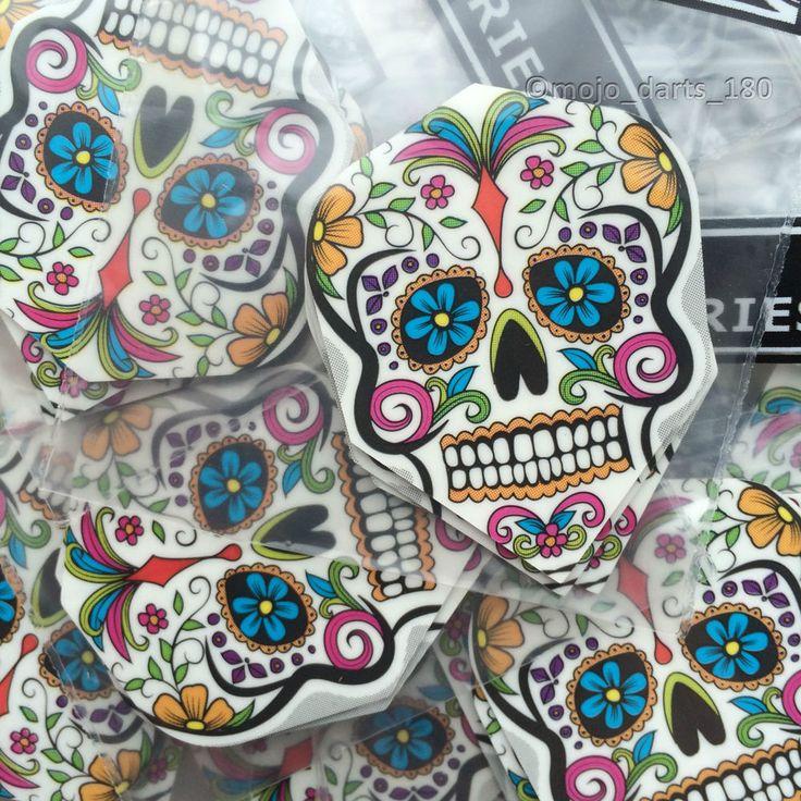 5 sets of Harrows DART FLIGHTS Quadro Poly Classic STANDARD SHAPE Graffiti Skull - Buy on eBay