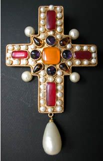 Chanel Vintage Cross by Gripoix