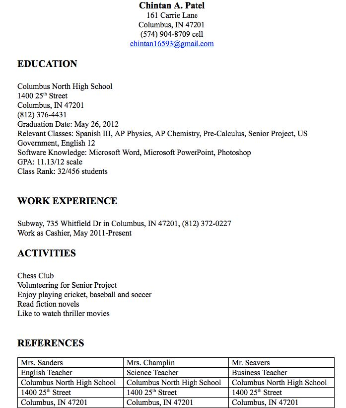 Cashier Resume Examples Chintan A Patel 161 Carrie Lane Columbus - resume examples for cashier