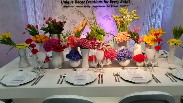 SA Wedding Decor stand at Decorex 2014, sponsor of the flowers #brightcolours #white