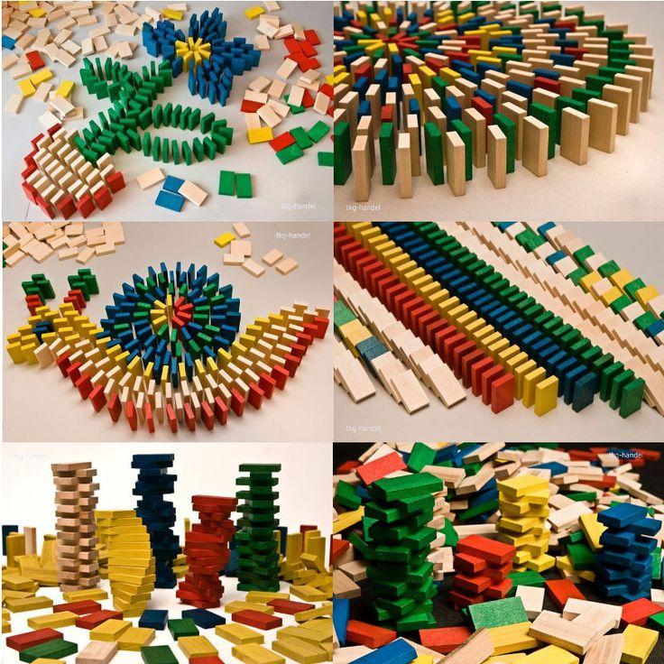 Holzbausteine 400 800 Domino Steine Holz Bausteine Holz Bauklötze Holzklötze
